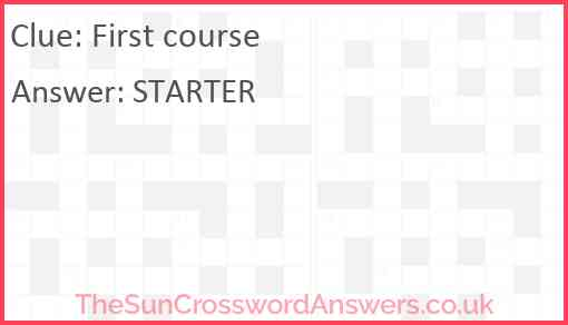 First course Answer