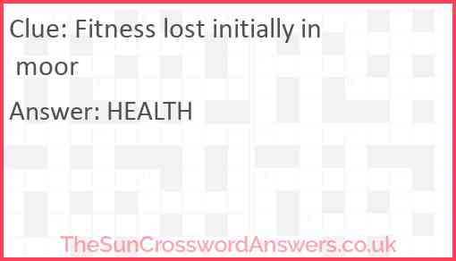 Fitness lost initially in moor Answer