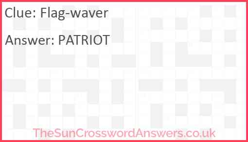 Flag-waver Answer
