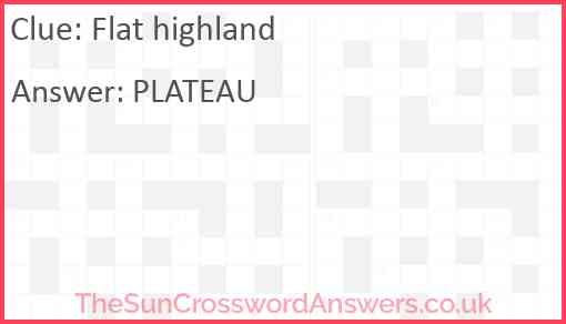 Flat highland Answer