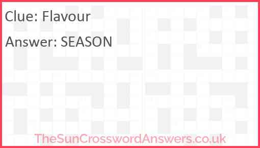 Flavour Answer
