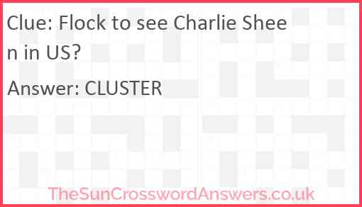 Flock to see Charlie Sheen in US? Answer