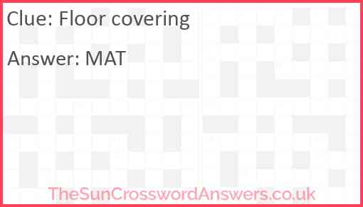 Floor covering Answer