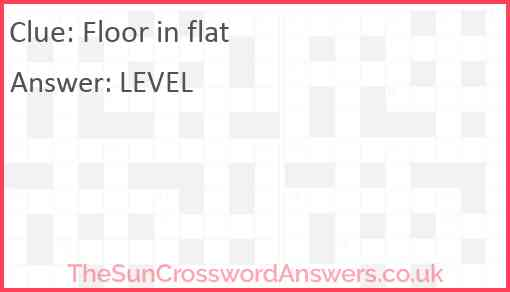 Floor in flat Answer