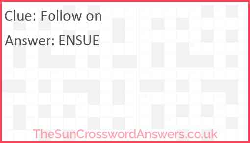 Follow on Answer
