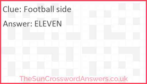 Football side Answer