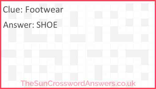 Footwear Answer