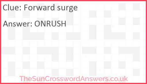 Forward surge Answer