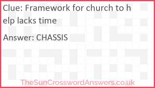 Framework for church to help lacks time Answer