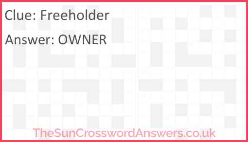 Freeholder Answer