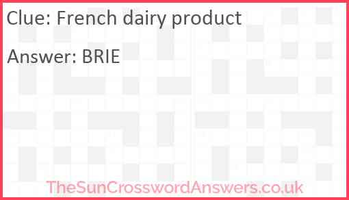 French dairy product Answer
