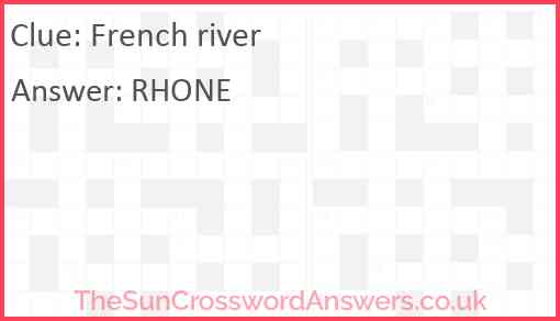French river Answer