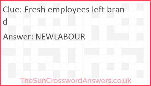 Fresh employees left brand Answer