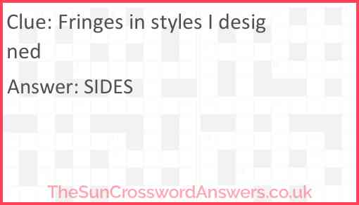 Fringes in styles I designed Answer