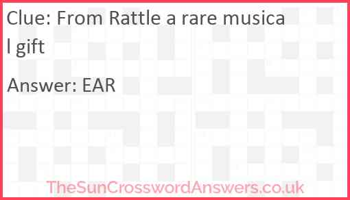 From Rattle a rare musical gift Answer