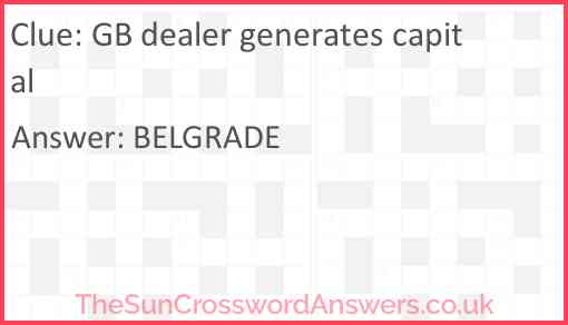 GB dealer generates capital Answer