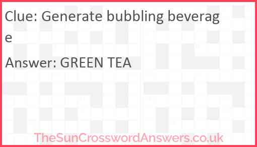 Generate bubbling beverage Answer
