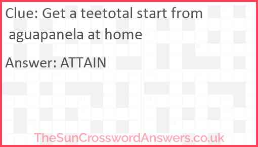 Get a teetotal start from aguapanela at home Answer