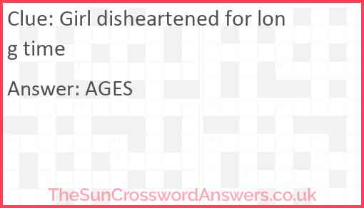 Girl disheartened for long time Answer