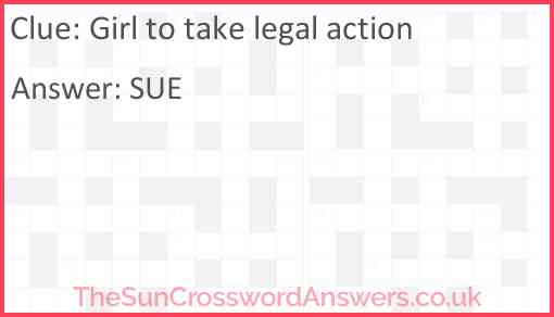 Girl to take legal action Answer