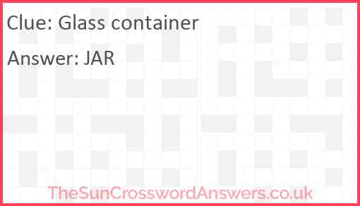 Glass container Answer