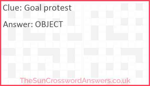 Goal protest Answer
