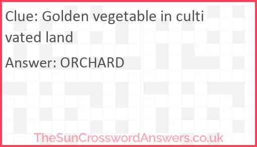Golden vegetable in cultivated land Answer
