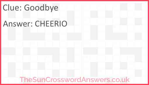 Goodbye Answer