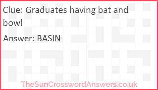 Graduates having bat and bowl Answer