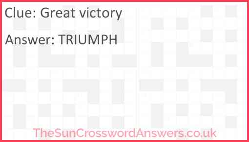 Great victory Answer