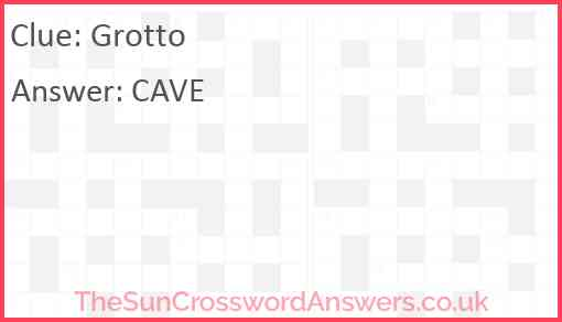 Grotto Answer