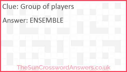 Group of players Answer