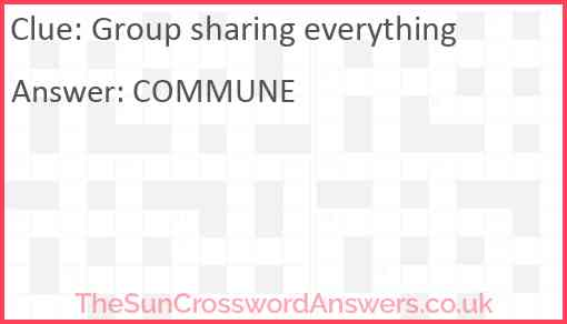 Group sharing everything Answer