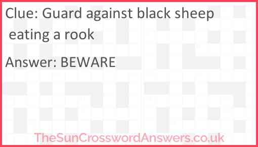 Guard against black sheep eating a rook Answer