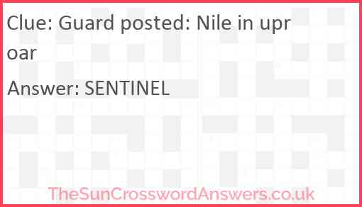 Guard posted: Nile in uproar Answer