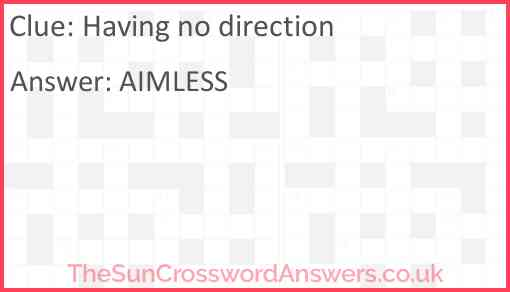 Having no direction Answer
