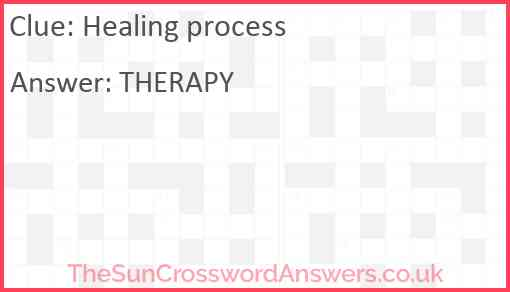 Healing process Answer