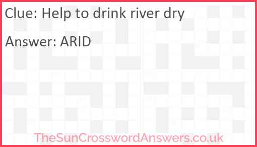Help to drink river dry Answer
