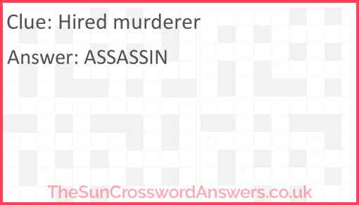 Hired murderer Answer