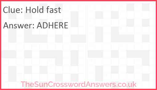Hold fast Answer