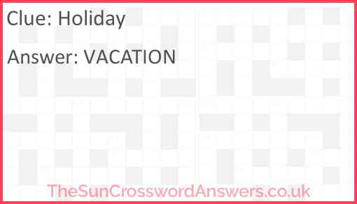 Holiday Answer