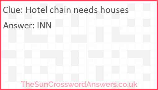 Hotel chain needs houses Answer