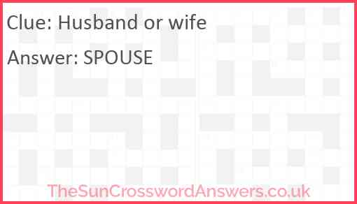 Husband or wife Answer