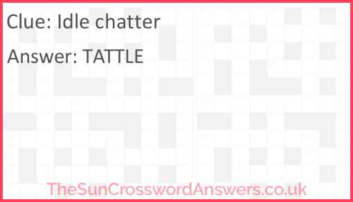 Idle chatter Answer