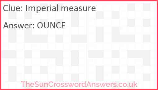 Imperial measure Answer