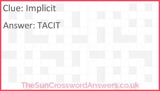 Implicit Answer
