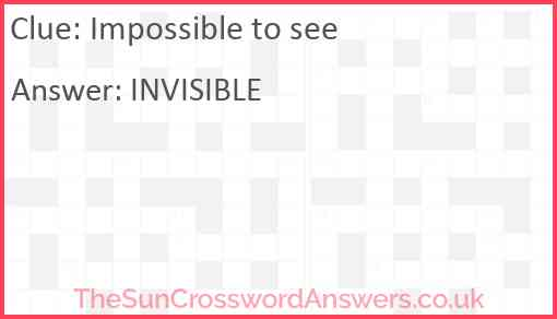 Impossible to see Answer