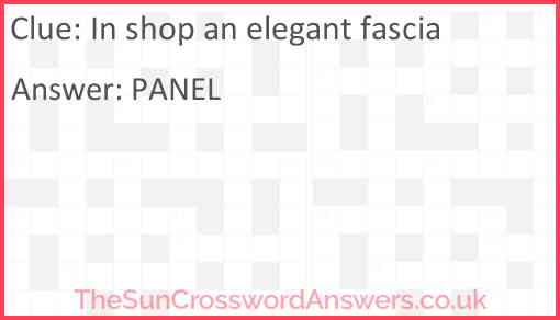 In shop an elegant fascia Answer
