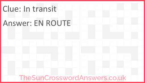 In transit Answer