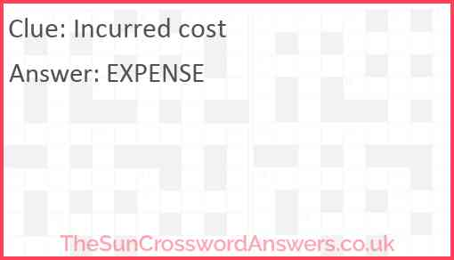 Incurred cost Answer